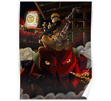 Naruto and Gamakichi Poster
