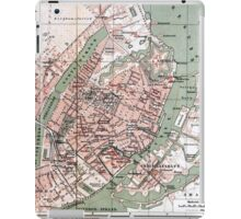 Vintage Map of Copenhagen Denmark (1888) iPad Case/Skin