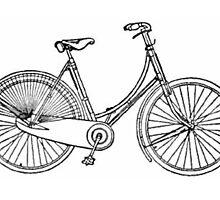 Vintage American Bicycle Diagram by BravuraMedia