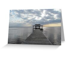 Lake & Sun Greeting Card
