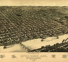 Vintage Pictorial Map of Little Rock (1887) by BravuraMedia