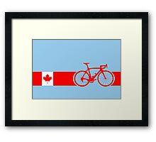 Bike Stripes Canadian National Road Race Framed Print