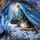 Ice Cave in a Glacier by Michael Stiso