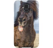Icelandic horse showing his respect Samsung Galaxy Case/Skin