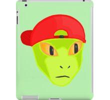 Alien Wearing Cap Tshirt Design iPad Case/Skin