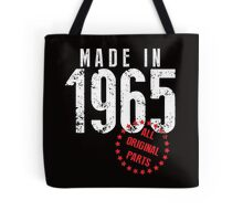 Made In 1965, All Original Parts Tote Bag