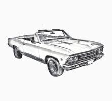 1966 Chevrolet Chevelle 283 Illustration Kids Clothes