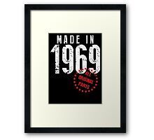 Made In 1969, All Original Parts Framed Print