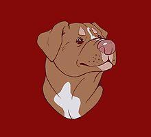 Pit Bull Pride- Red by cinderwolfeh