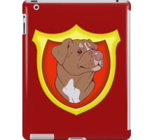 Pit Bull Pride - Red with Crest iPad Case/Skin