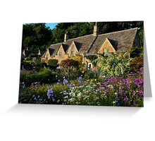 Ancient Cotswold Cottages at Bibury. Greeting Card