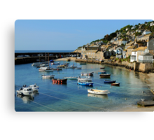 A Peaceful Moment at Mousehole, Cornwall Canvas Print