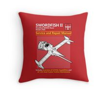 Swordfish Service and Repair Manual Throw Pillow