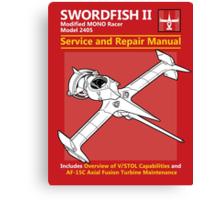 Swordfish Service and Repair Manual Canvas Print
