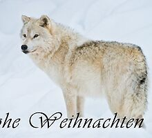 Arctic Wolf Christmas Card - German - 9 by WolvesOnly