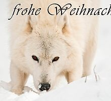 Arctic Wolf Christmas Card - German - 10 by WolvesOnly