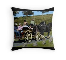 Travelling in the Slow Lane. Throw Pillow