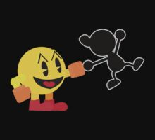 Pac-Man and Mr. Game and Watch Vector by ViralDrone