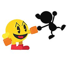 Pac-Man and Mr. Game and Watch Vector Photographic Print