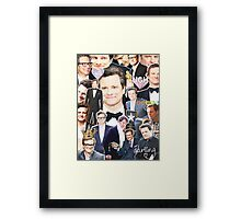 colin firth collage Framed Print