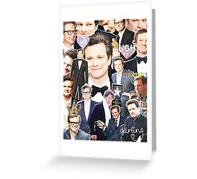 colin firth collage Greeting Card