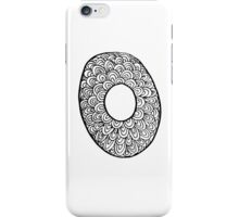 "Hipster Letter ""O"" Zentangle iPhone Case/Skin"