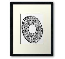 """Hipster Letter """"O"""" Zentangle Framed Print"""