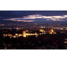 Alhambra by night Photographic Print