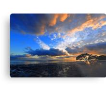 Nudgee Beach at sunrise. Brisbane, Queensland, Australia. Metal Print