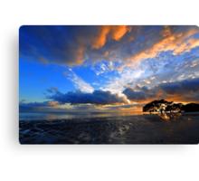 Nudgee Beach at sunrise. Brisbane, Queensland, Australia. Canvas Print