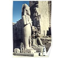 Huge Sculpture of Ramses III, Karnak, Egypt  Poster