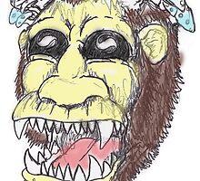 Shroom-head Ape-man by Emersonart
