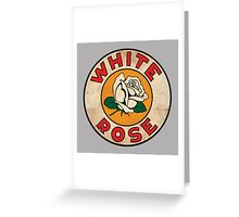 White Rose Oil And Gas Greeting Card