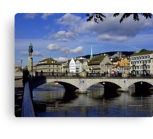 Reflections of Zurich Canvas Print