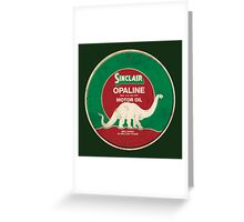 Sinclair Opaline Motor Oil Greeting Card