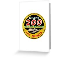 Grant 200 MPH Club Greeting Card
