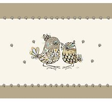 Brown Paper Birds Photographic Print