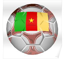 Cameroon Soccer Ball Poster