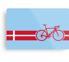 Bike Stripes Danish National Road Race Metal Print