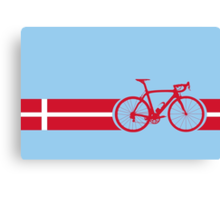 Bike Stripes Danish National Road Race Canvas Print