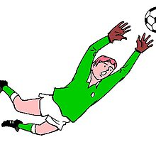 Soccer Goalie Diving Save by kwg2200