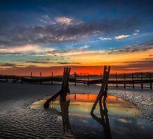 Beach Sunset by manateevoyager