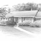 Childhood home drawing by Mike Theuer