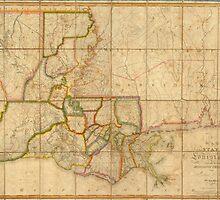 Vintage Map of Louisiana (1816)  by BravuraMedia