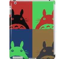 Warhol's Totoro Dark Version iPad Case/Skin