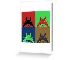Warhol's Totoro Dark Version Greeting Card