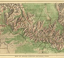 Vintage Map of The Grand Canyon (1926) by BravuraMedia