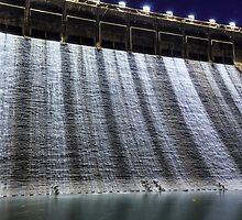 Dam at night in Hong Kong by kawing921