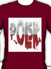 Poland Typographic Map Flag T-Shirt