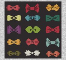 Bow tie pattern. Cartoon hipsters style Kids Clothes
